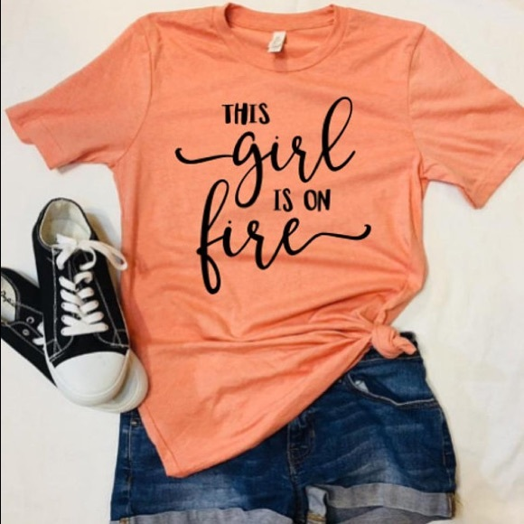 4a715a594 Plum Creek Boutique Tops | Inspirational Graphic Tees Girl On Fire ...